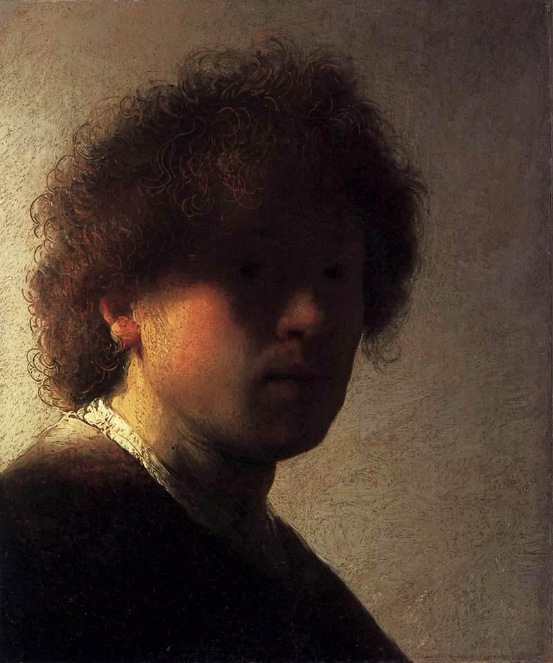 Rembrandt Autoritratto con capelli scompigliati 1627 1628