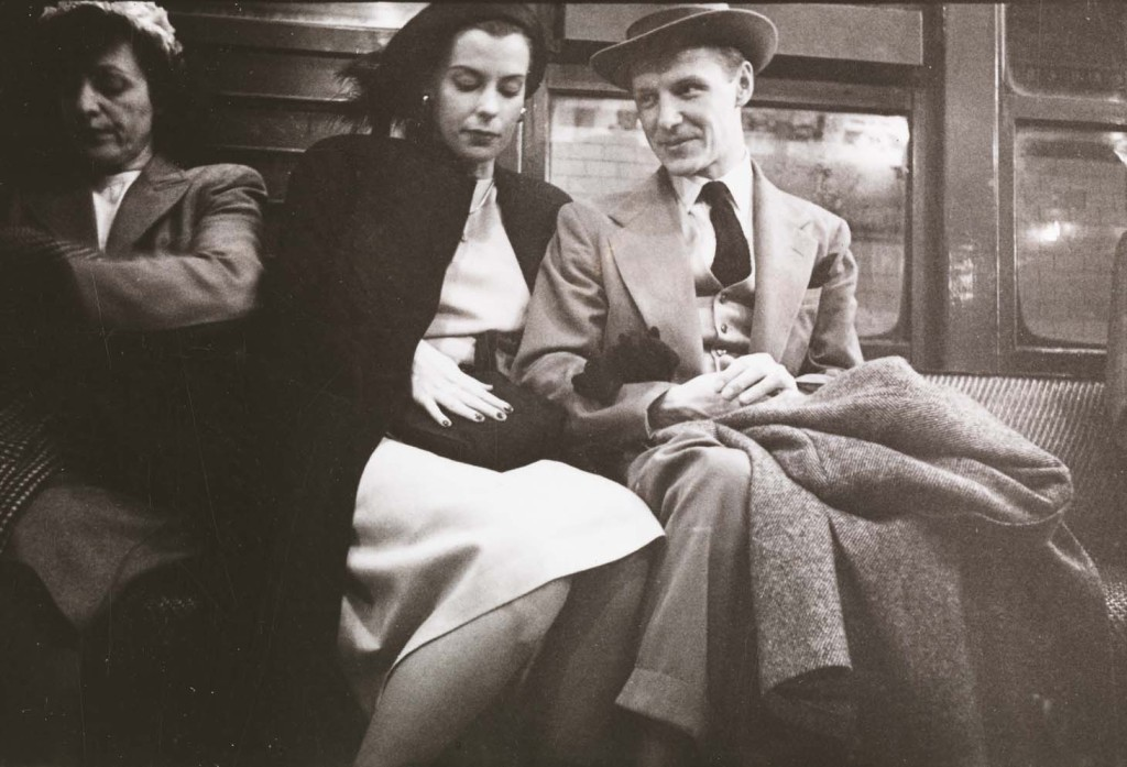 walker evans subway lovers
