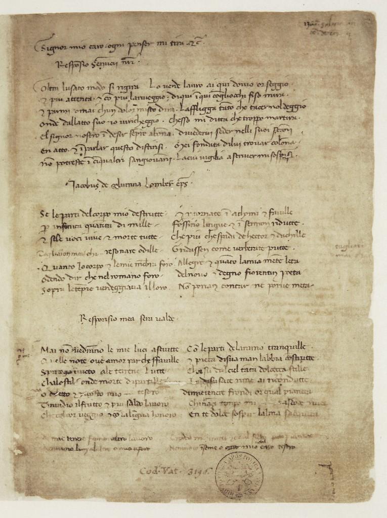 manoscritto petrarca