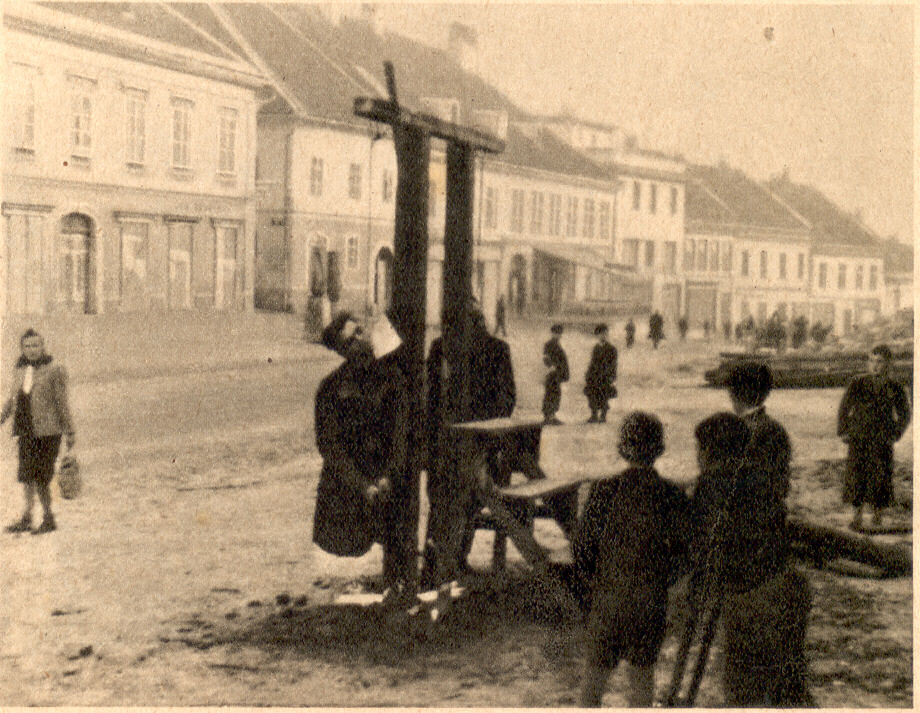 partigiani impiccati a Novo Mesto alla fine del 1943