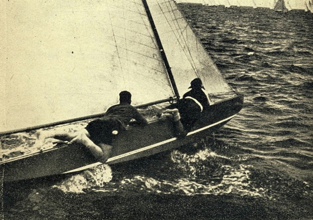 Agostino Straulino e Nicolò Rode nel 1950