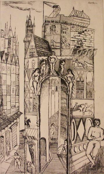 bernard sanders fantastic city 1925