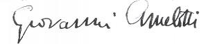 Autografo di Giovanni Amelotti